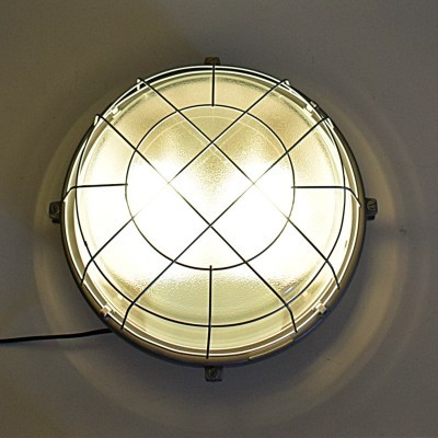 18 x Very large industrial wall or ceiling lamp