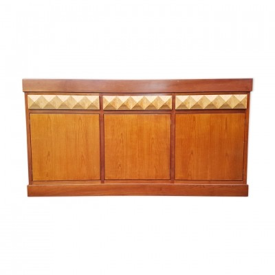 Brutalist sideboard with graphic drawers