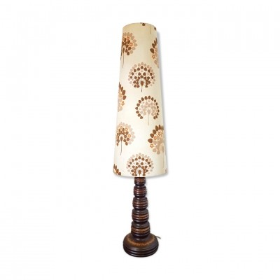 West German ceramic floor lamp with floral shade
