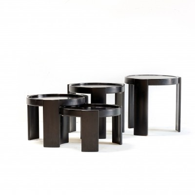 Set of 4 model 780 nesting tables by Gianfranco Frattini for Cassina, 1960s