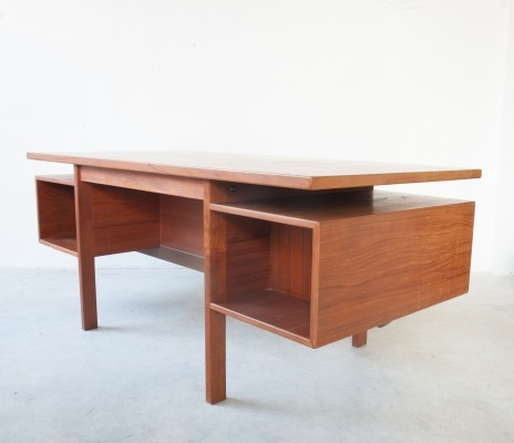 Danish Executive Freestanding Desk in Teak, 1962