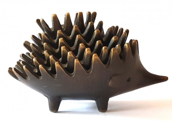 Hedgehog ashtray by Walter Bosse for Hertha Baller, 1950s