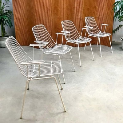 Outdoor wire armchairs by Erlau Munich, 1950s