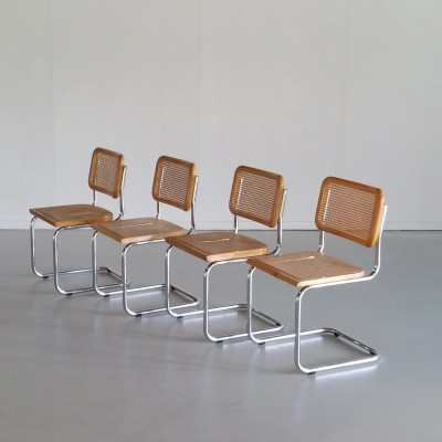 Set of 4 'Cesca' Chairs by Marcel Breuer, 1970s
