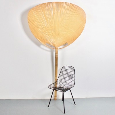 Very Large 'Uchiwa' Floor Lamp by Ingo Maurer, 1977