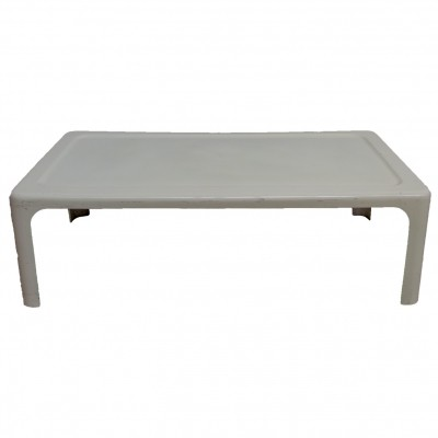 Coffee table in moulded white fiberglass, 1970's
