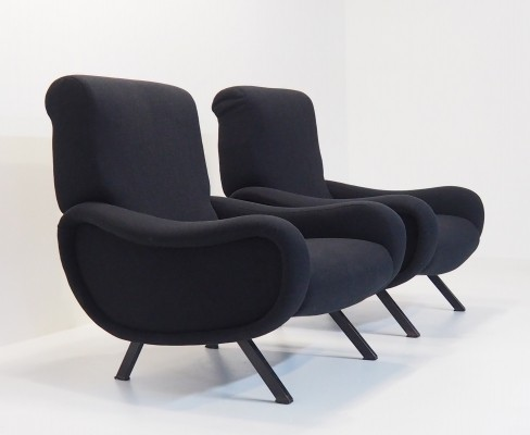 Pair of lounge chairs by Marco Zanuso for Arflex, 1950s