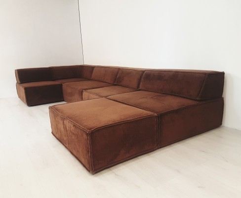 Stunning COR trio modular sofa in brown fabric