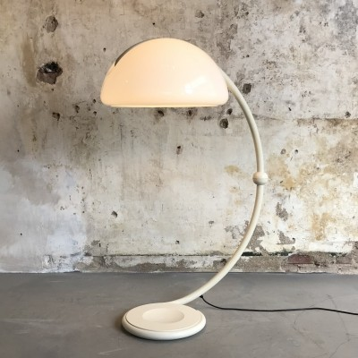 Vintage floor light Serpente by Elio Martinelli for Martinelli Luce, Italy 1965