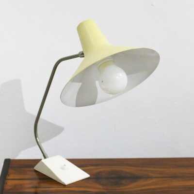 Vintage Cream Metal Desk Lamp