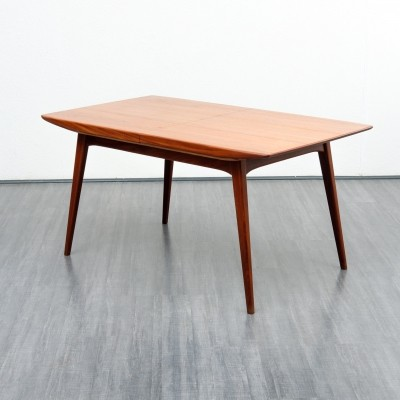 Midcentury extendable dining table in teak by Louis van Teefelen