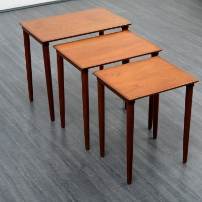 Set of 1950s nesting tables in teak