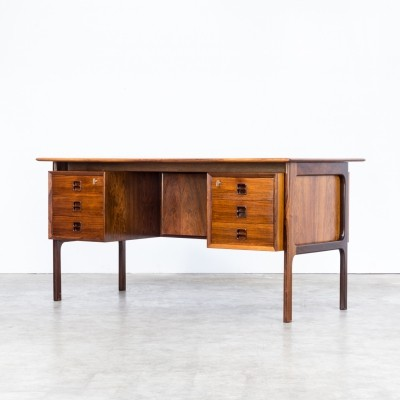 60s Arne Vodder rosewood writing desk for Sibast