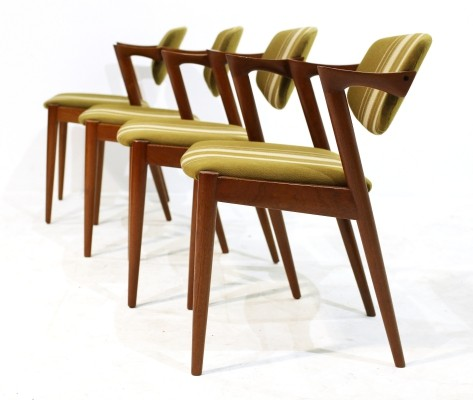Vintage Model 42 Chairs by Kai Kristiansen, Set of 4