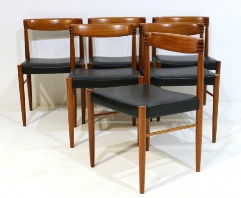 Vintage Dining Chairs by H. W. Klein for Bramin, Set of 6