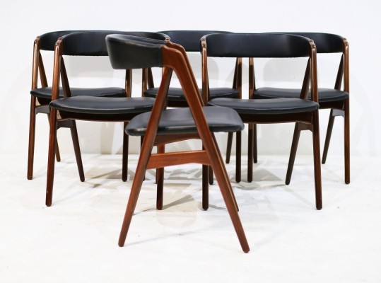 Mid-Century Danish Teak Dining Chairs by Th. Harlev for Farstrup Møbler, 1950s