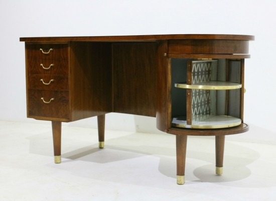 Walnut Kidney Desk by Kai Kristiansen for Feldballes Møbelfabrik, 1960s