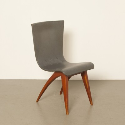 3 x Swing dining chair by G. van Os for Van Os Culemborg, 1940s