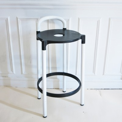 Black & white Polo Bar Stool by Anna Castelli