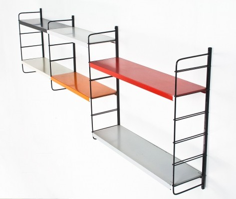 Metal multi color modular wall unit by Pilastro