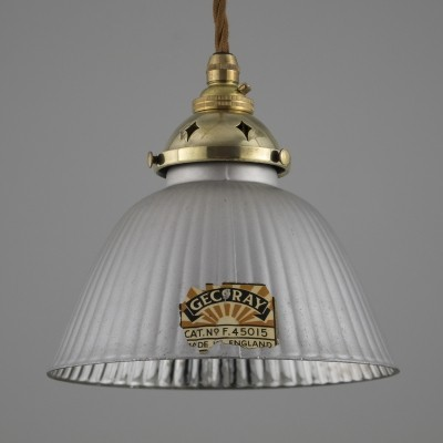 Antique glass GECoRAY pendant lights by GEC