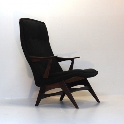 Signed 1950's Norwegian easy chair by Hjelle Stol & Mobelfabrikk