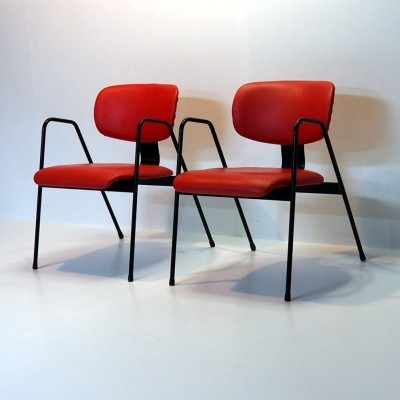 Signed chairs by the Belgian modernist Willy vd Meeren