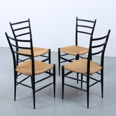 Set of 4 Spinetto dinner chairs by Chiavari, 1950s