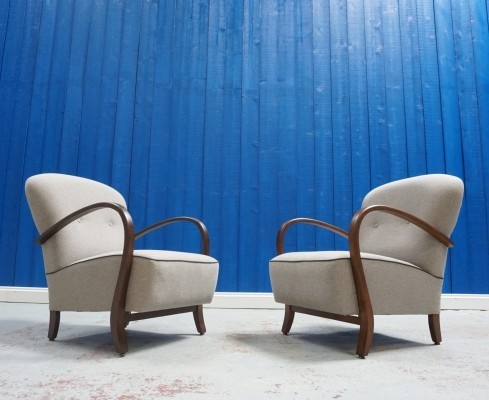 Pair of Mid Century Armchairs / Loungers from 1950
