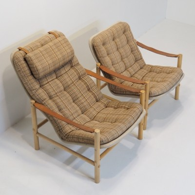 Pair of Junker lounge chairs by Bror Boije for Dux, 1960s