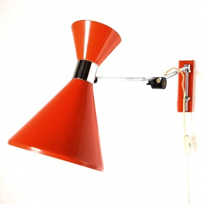 Herda diabolo adjustable wall lamp, Netherlands 1960s