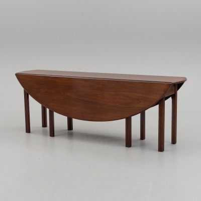 Mid century drop-leaf dining table by Nordiska Kompaniet, Sweden
