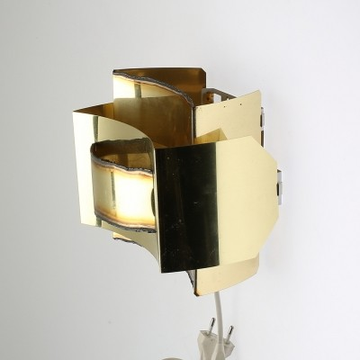 Brass wall light by Svend Aage Holm Sørensen, Denmark
