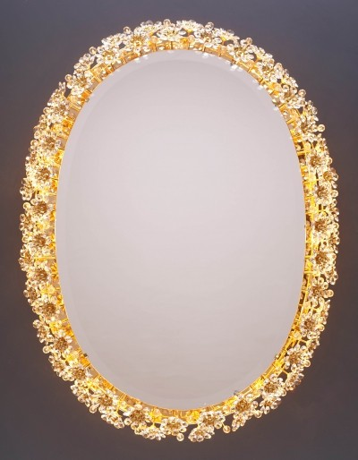 Vintage Flower Mirror with Backlighting by Palwa