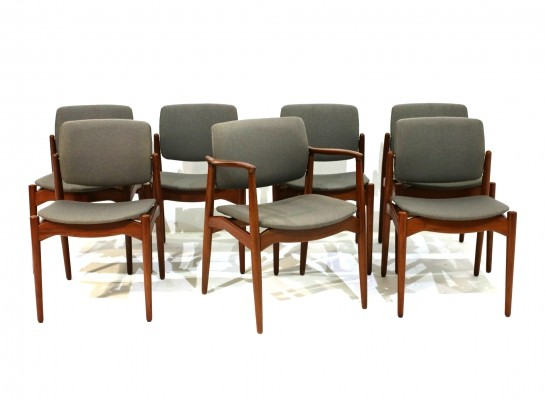 Dining Chairs & Armchair by Erik Buch for Ørum Møbler, Set of 7