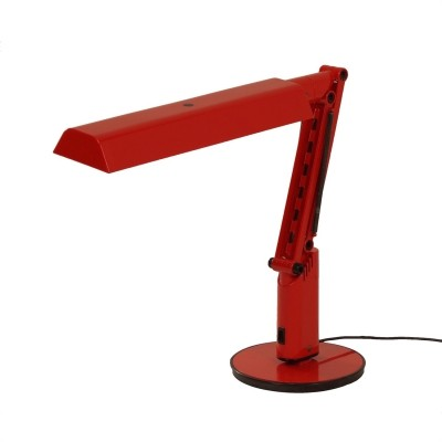 Red Lucifer Desk Lamp by A&E Design for Fagerhults, 1970s