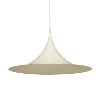 White Semi Pendant by Bonderup & Thorup for Fog & Morup, 1960s