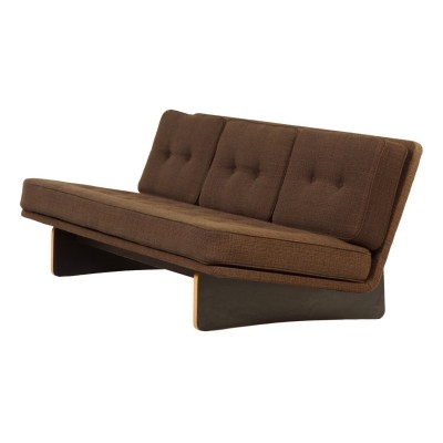 Brown Ploeg Fabric 'Model 671' 3-Seater Sofa by Kho Liang le for Artifort, 1960s