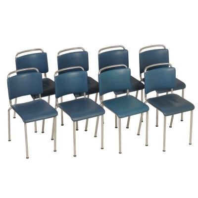 Set of Eight Gispen 106 Chairs by W.H. Gispen, 1960s
