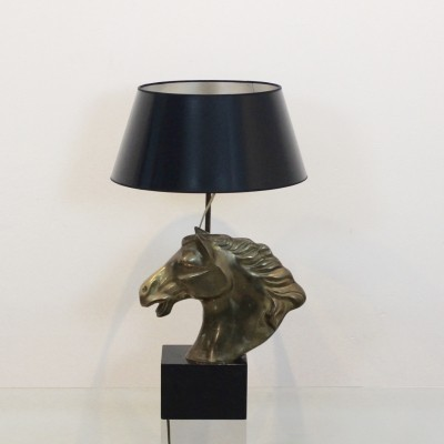 Distinctive French 'Cheval' Horsehead Table Lamp, 1970s