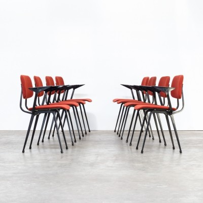 Set of 8 Friso Kramer 'revolt' chairs for Ahrend, 1950s