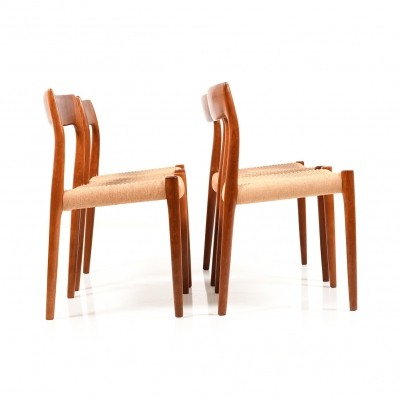 Set of 4 'no. 78' Dining Chairs by N.O. Møller