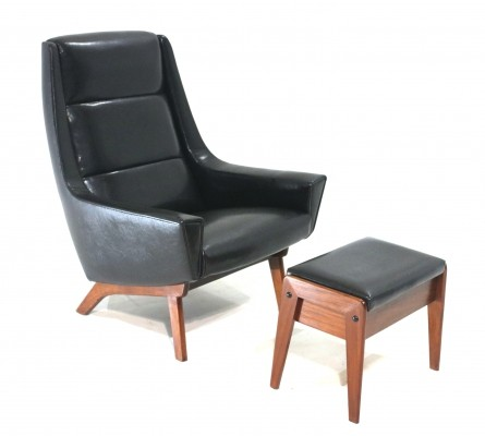 Danish Armchair & Footstool, 1960s