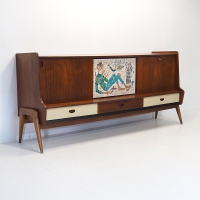 1950's dressoir by the Belgium designer Oswald Vermaercke