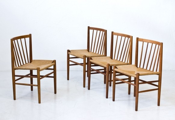 Mid-Century Dining Chairs Model J80 by Jørgen Baekmark for FDB Møbler, Denmark