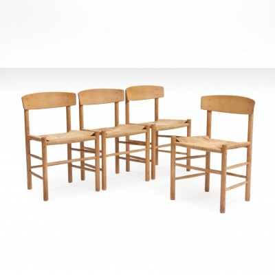 Børge Mogensen J39 'People's chair' in wood & hand-woven paper cord seat