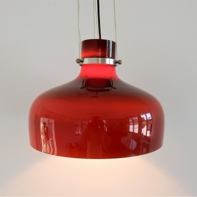Colored glass pendant lamp, 1960s