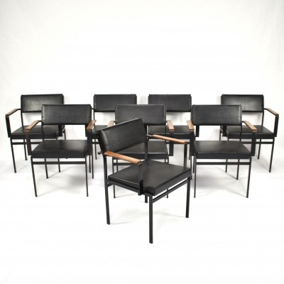 15x model FM17 dining chairs by Cees Braakman for Pastoe