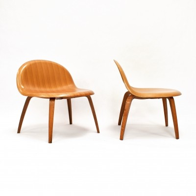 Gubi plywood lounge chairs by Boris Berlin & Poul Christiansen for Komplot