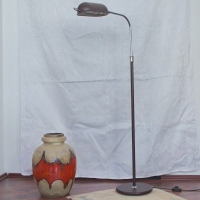 Adjustable brown floor lamp from Scandinavia, 1960s